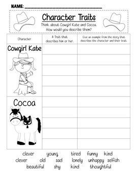 Cowgirl Kate and Cocoa Common Core Book Unit