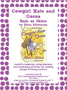 Cowgirl Kate and Cocoa Rain or Shine Literature Study Packet