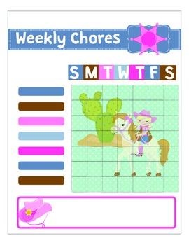 Cowgirl Printable Chore Chart