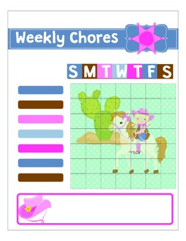 Cowgirl Printable Chore Chart