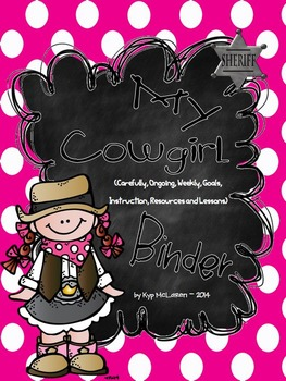 Cowgirl/Cowboy Organizational Binder Set