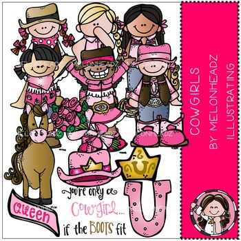 Melonheadz: Cowgirls clip art - COMBO PACK