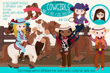 Cowgirls cliparts