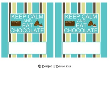 Coworker Hershey Bar Wrappers Set