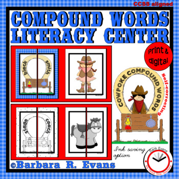 COMPOUND WORDS LITERACY CENTER Wild West Theme Compound Words Activities