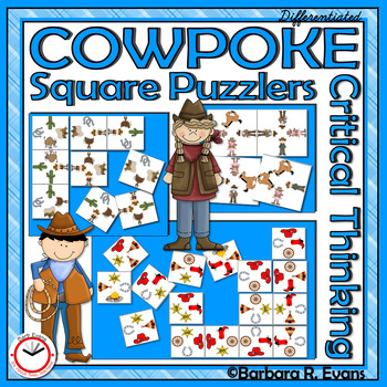 CRITICAL THINKING PUZZLES Cowboys Activity Brain Teasers Differentiation GATE
