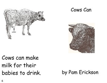 Cows Can- a non-fiction guided reading book