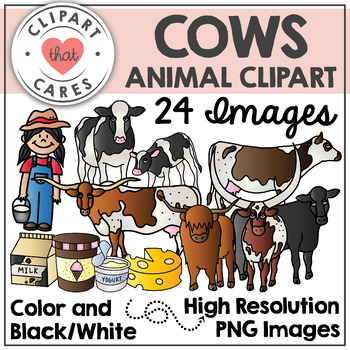 Cows Clipart by Clipart that Cares