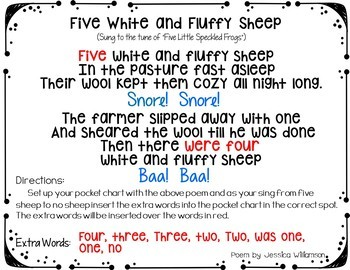 Cows, Pigs and Sheep Bundle (3 Pocket Chart Activities)
