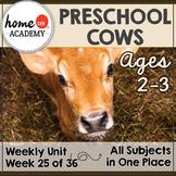 Cows Preschool Unit - Printables for Preschool, PreK, Homeschool Preschool