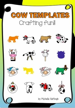 cow templates crafts and colouring by michelle s template store tpt