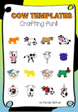 Cow Templates Crafts and colouring