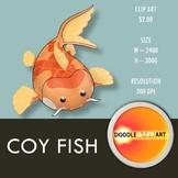 Coy Fish Clip Art