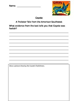Coyote:  A Trickster Tale from the American Southwest -- text evidence