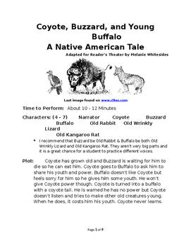 Coyote, Buzzard, and Young Buffalo - Native American Reade