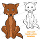 Coyote Craft Activity | Paper Bag Puppet Template
