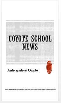 Coyote School News Anticipation Guide