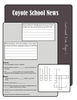 Coyote School News Comprehension Activity