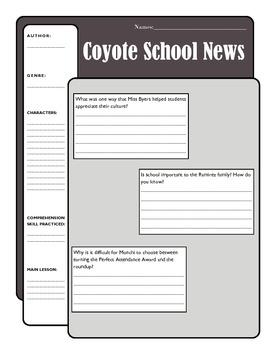Coyote School News Comprehension Activity