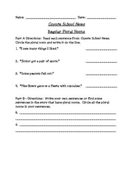 Coyote School News (Scott Foresman Reading Street)