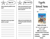 Coyote School News Trifold - Reading Street 4th Grade Unit 2 Week 2