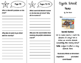 Coyote School News Trifold - ReadyGen 2016 4th Grade Unit 4 Module A