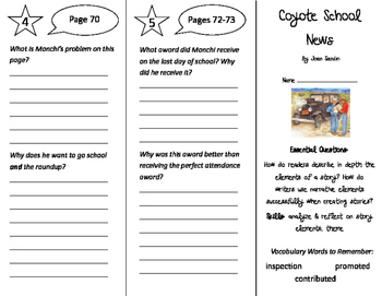 Coyote School News Trifold - ReadyGen 2016 4th Grade Unit