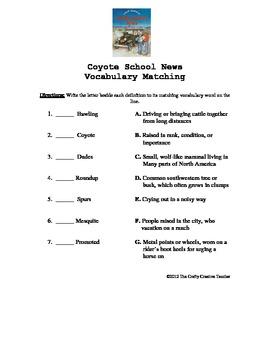 Coyote School News Vocabulary Unit