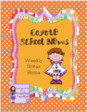 Coyote School News Weekly Take Home Letters (Scott Foresman Reading Street)