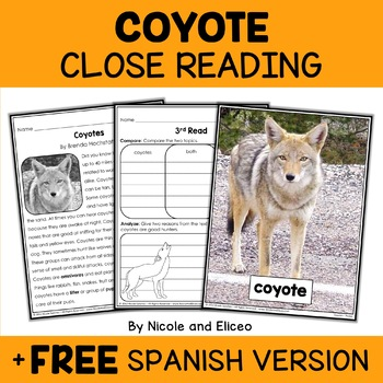 Close Reading Coyote Activities