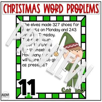 Multistep Word Problem Task Cards: Cozy Christmas Theme