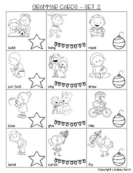 Cozy Christmas Receptive and Expressive Language Game