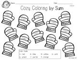 Cozy Coloring by Sum FREEBIE {Winter Math Kindergarten}