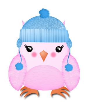 Cozy Owls Clip Art