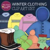 Winter Clothing Clip Art Set