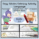 Cozy Winter ELA Language Coloring Activities