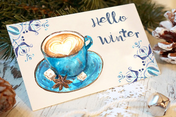 Cozy Winter Watercolor Clip Art Set