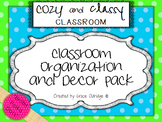 Cozy and Classy Classroom: Organization and Decor Pack {Bright Polka Dots}