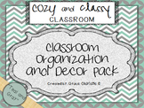 Cozy and Classy Classroom: Organization and Decor Pack {Teal & Gray}