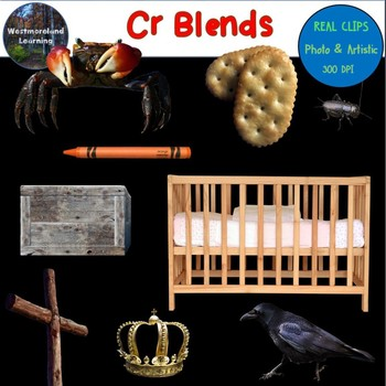 Cr Blends Clip Art Phonics Word Families Digital Photo Stickers