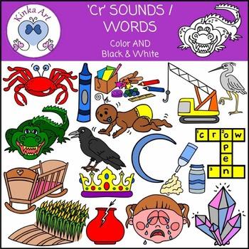 Cr Sounds / Words: Beginning Sounds Clip Art