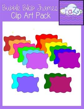 Bubble Blob Frames Clip Art Pack {CraZy Clip Art}