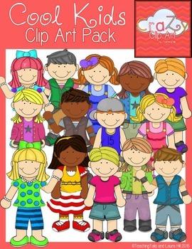 Cool Kids Clip Art Pack {CraZy Clip Art}