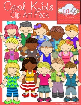 Cool Kids Clip Art Pack {CraZy Clip Art}