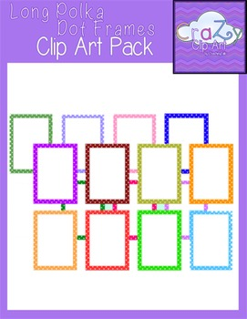 Long Polka Dot Frames Clip Art Pack {CraZy Clip Art}