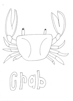 Crab: Animals and Pets: Colouring Page