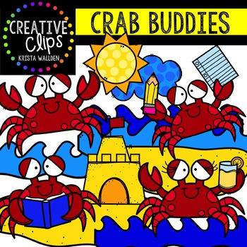 Crab Buddies: Summer Clipart {Creative Clips Clipart}