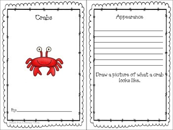 Crab Close Reading Activity Pack