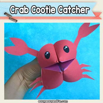 Crab Cootie Catcher - Fortune Teller Craft