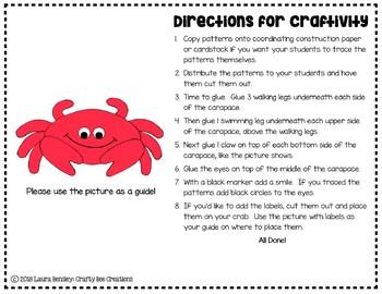 Crab Craft (Label It!)